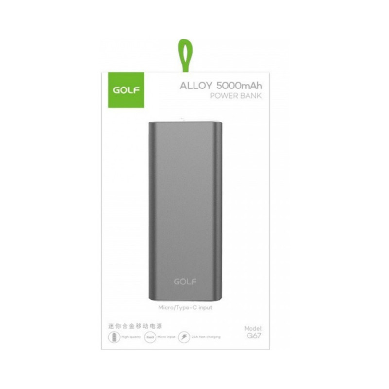 PowerBank Golf Alloy 5000 Auriu