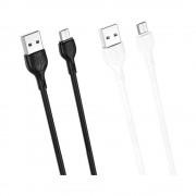 Cablu XO NB200-2M MicroUSB-USB Alb (2m,2A)