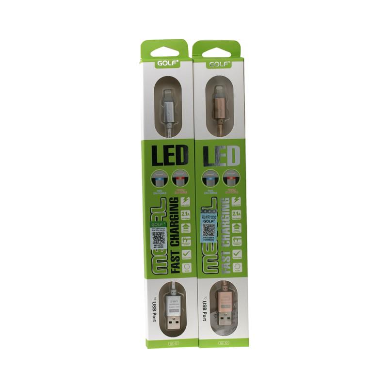 Cablu Golf Led Iphone 12I Argintiu