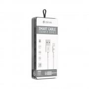 Cablu Devia Smart MicroUSB Alb (SET DE 8 BUC)