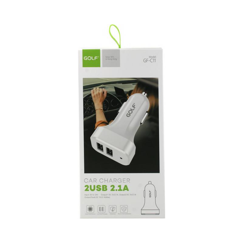 Adaptor Auto Golf C11 2USB/2A