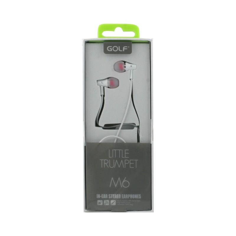 HandsFree Stereo Golf M6 Alb