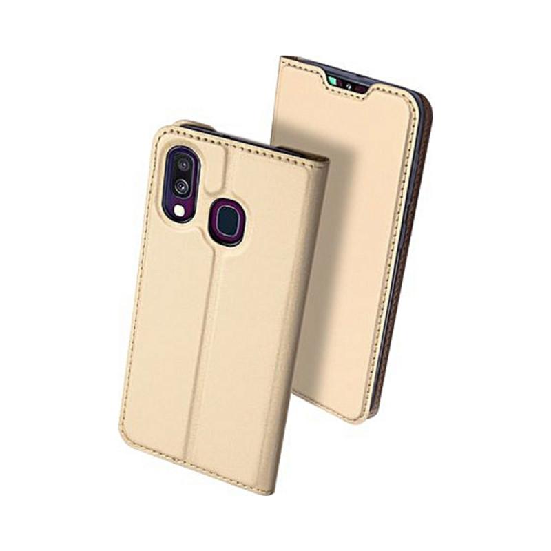 Toc DuxDucis Skin Samsung A40 Auriu