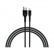 Cablu Devia Long MicroUSB-USB Negru (2m)