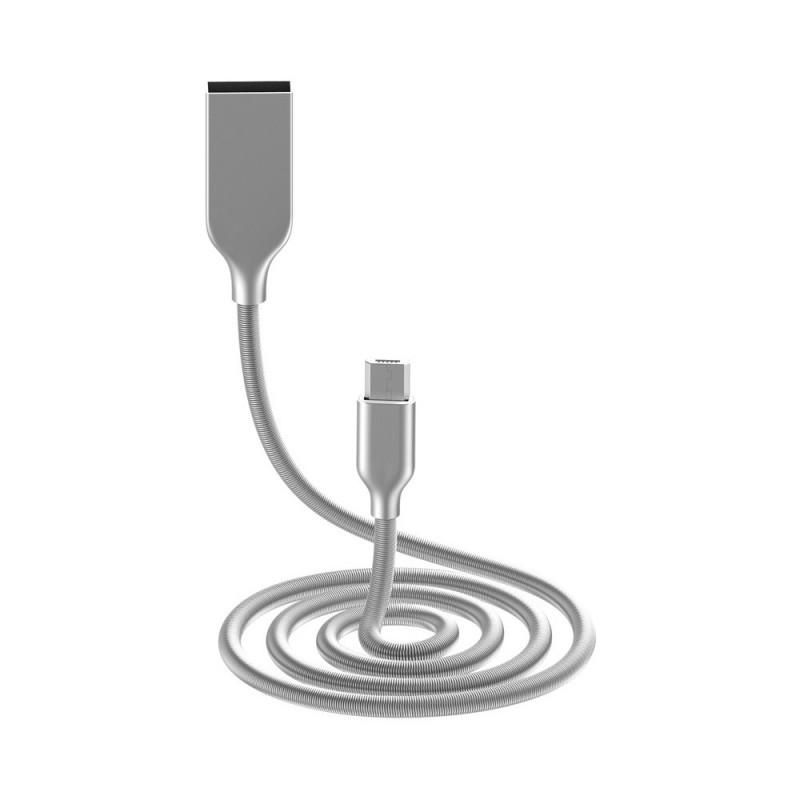 Cablu Golf Kirsite MicroUSB 36M Argintiu
